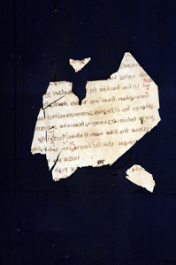 Fragments of manuscript of Daṇḍin's Mirror